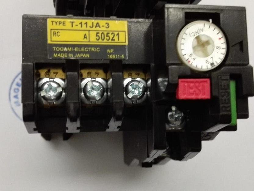 Overload Relay T-11JA-3 Togami